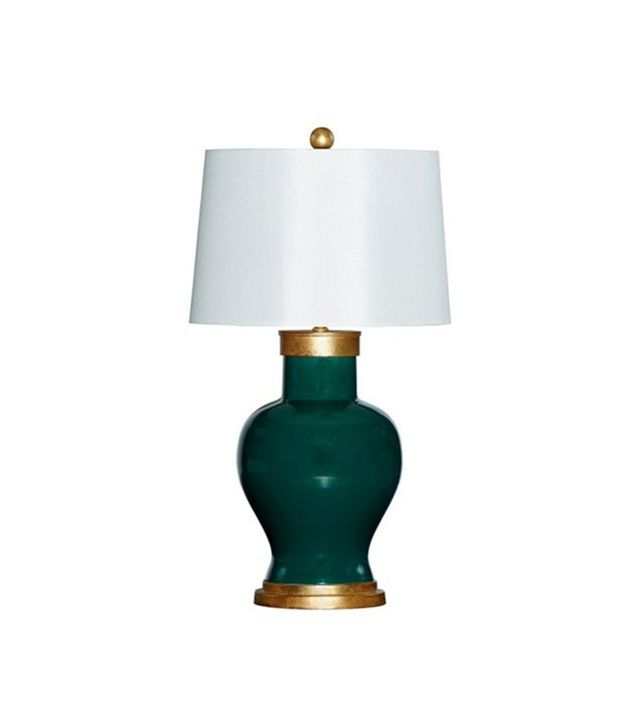 Bradbury Gallery Home Cove Table Lamp in Emerald