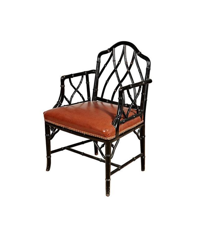 2-b-Modern Vintage John Widdicomb-Style Bamboo Chair