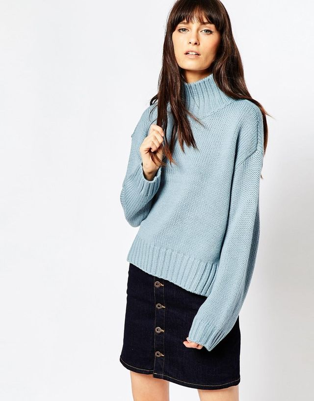 ASOS Boxy Sweater with Chunky High Neck