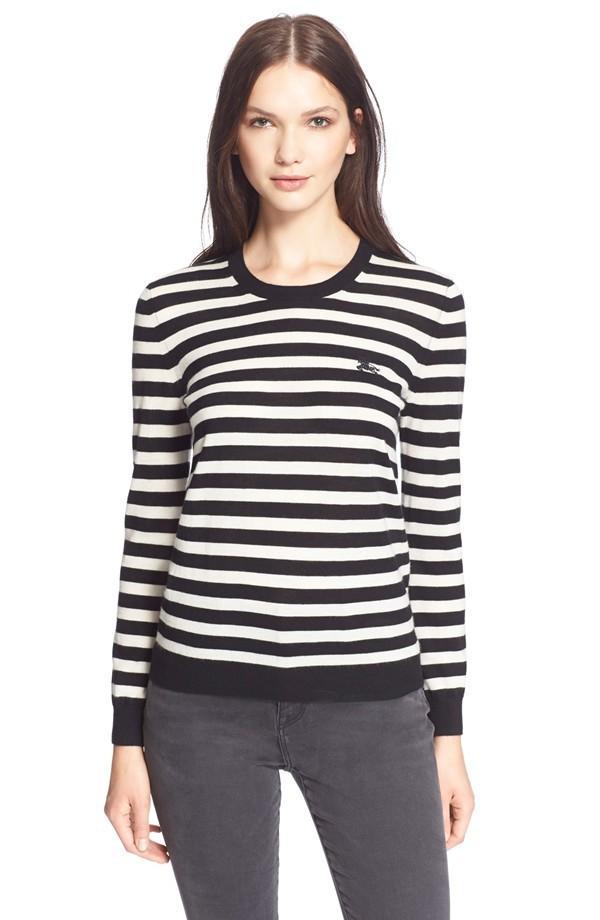 Burberry Stripe Crewneck Cashmere Sweater