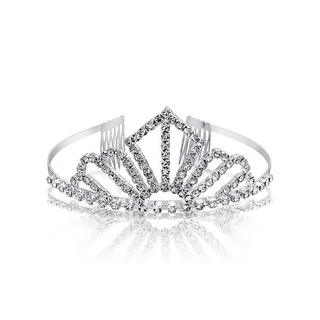 Bling Jewelry Gold Plated Crystal Silver Screen Queen Bridal Tiara