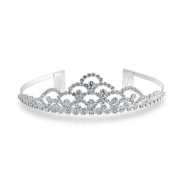 Bling Jewelry Tiered Style Bridal Crystal Rhinestone Headpiece Tiara