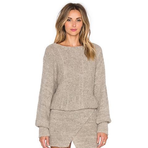 Lupuna Asymmetrical Sweater Dress