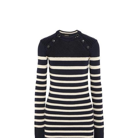 Haeza Striped Merino Wool-Blend Mini Sweater Dress