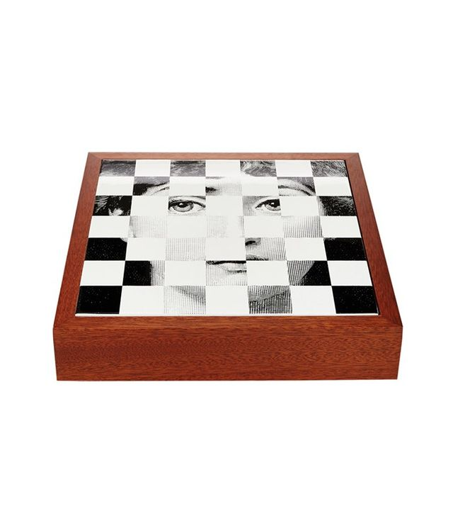 Fornasetti Viso Chess, Checkers & Card Game Set