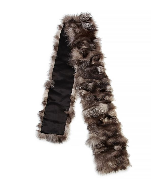 Michael Kors Collection Shredded Fox Fur Scarf