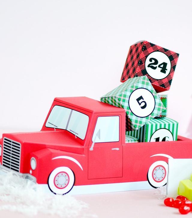 PaperBuiltShop Advent Calendar Pickup Truck