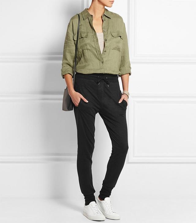 Étoile Isabel Marant Kurtis Linen-Jersey Tapered Pants