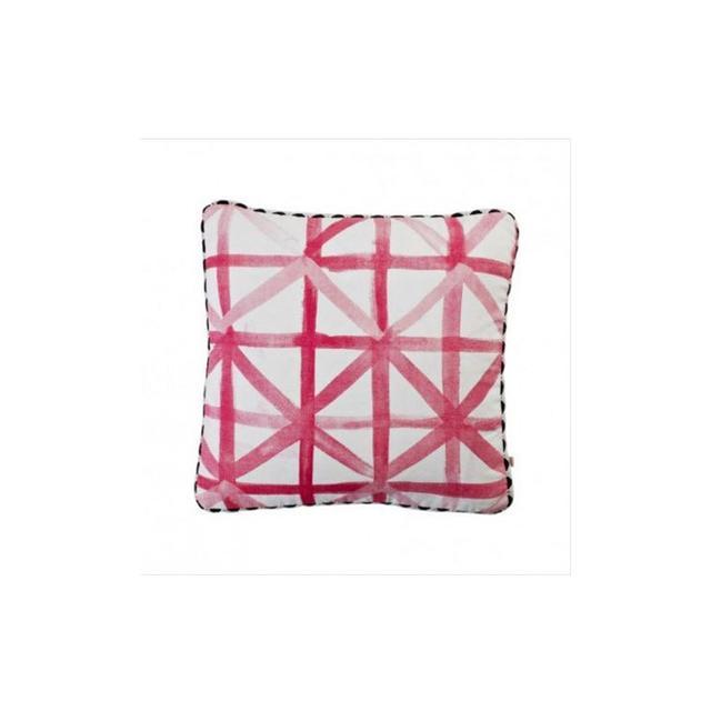 Bonnie and Neil Check Pink Cushion