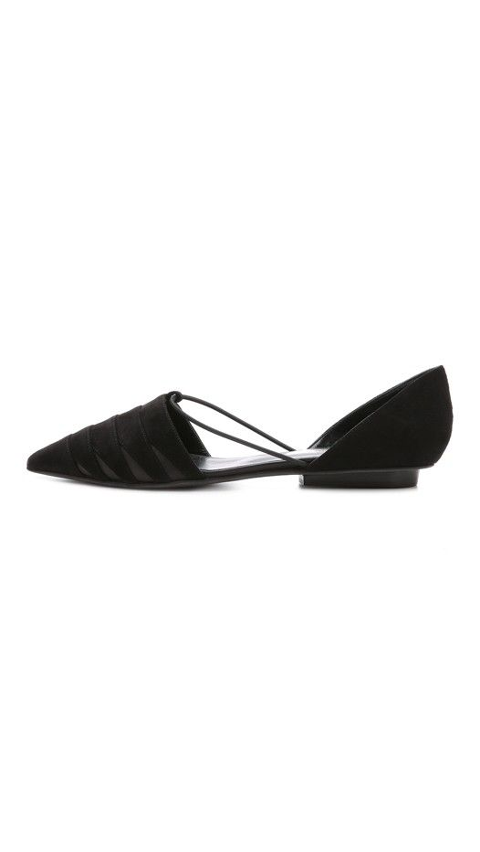 Narciso Rodriguez Layered Suede Flats