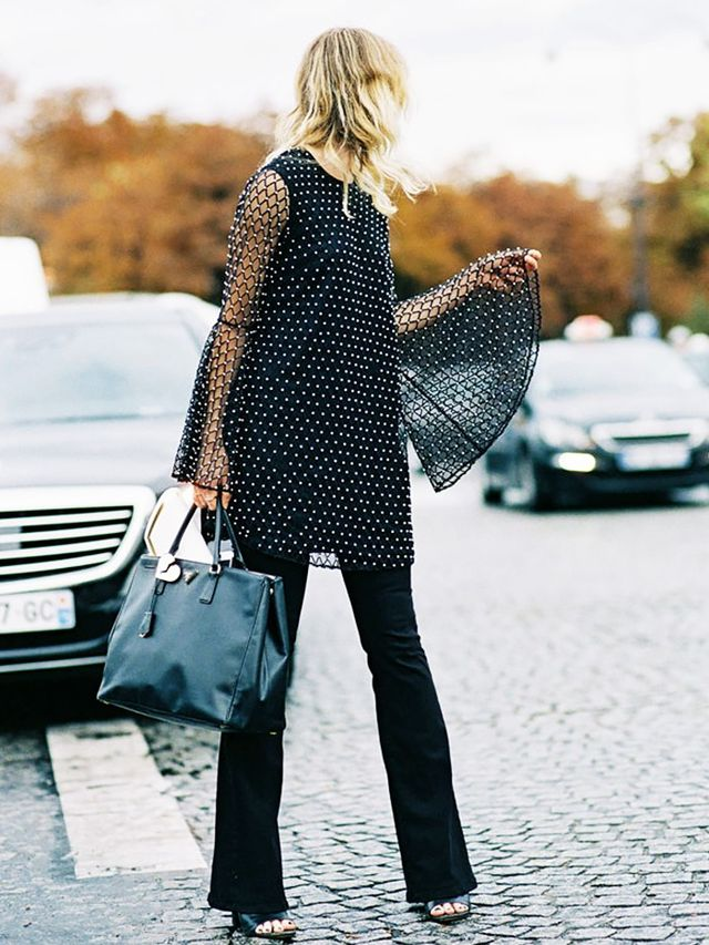 8. Bell-Sleeve Tunic + Flares