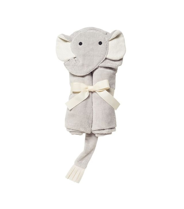 Elegant Baby Gray Elephant Bath Wrap