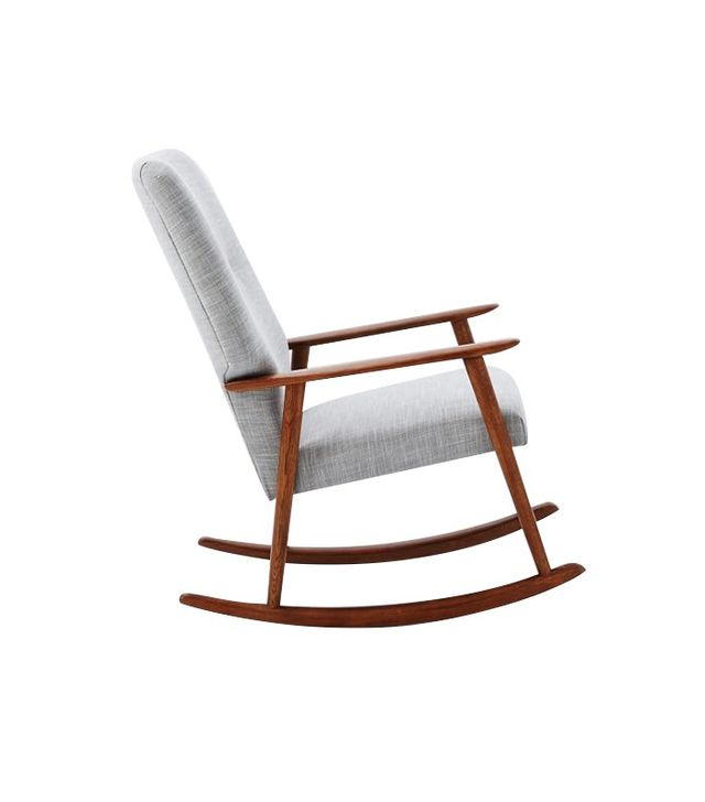 West Elm High Back Rocking Chair