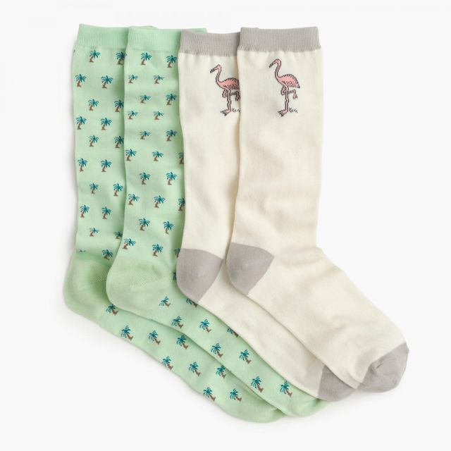 J.Crew x Pierre Le-Tan for Design Miami Socks Two-Pack