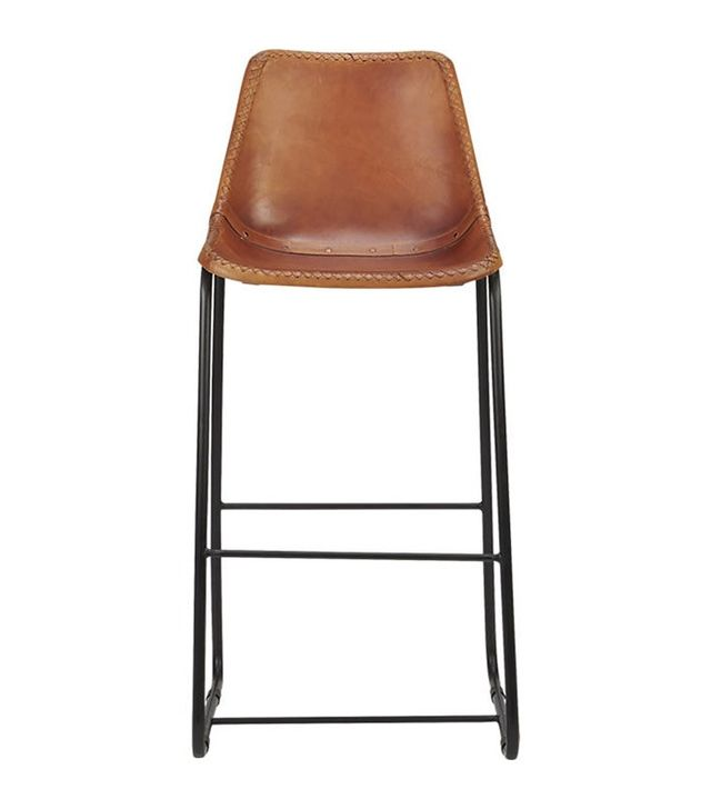 CB2 Roadhouse Leather Counter Stool