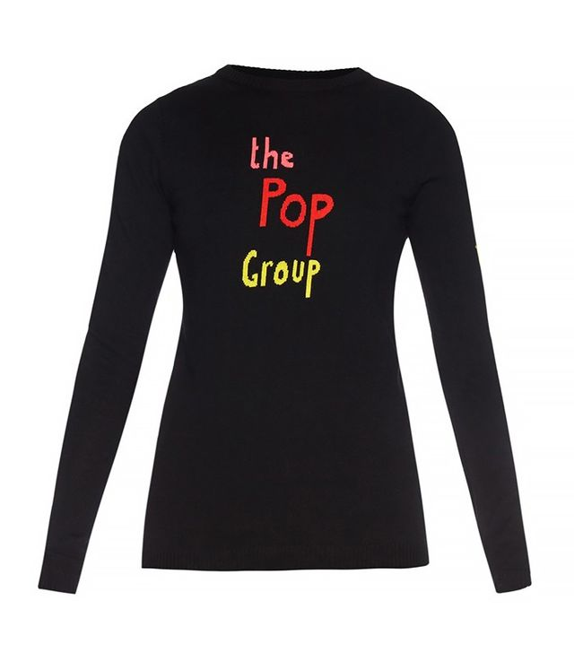 Bella Freud The Pop Group Instarsia-Knit Sweater