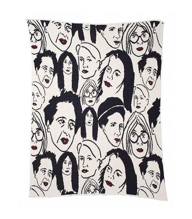 Aelfie Cherchez La Femme Throw Blanket