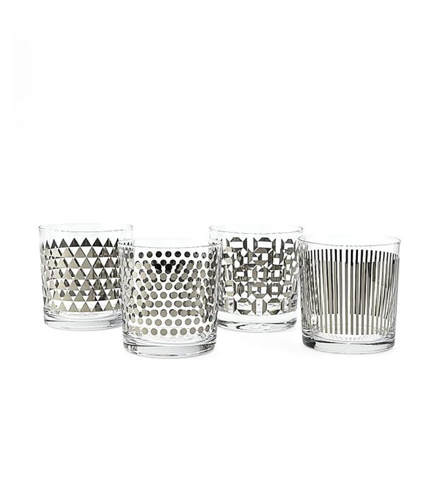 West Elm Metallic-Print Glassware