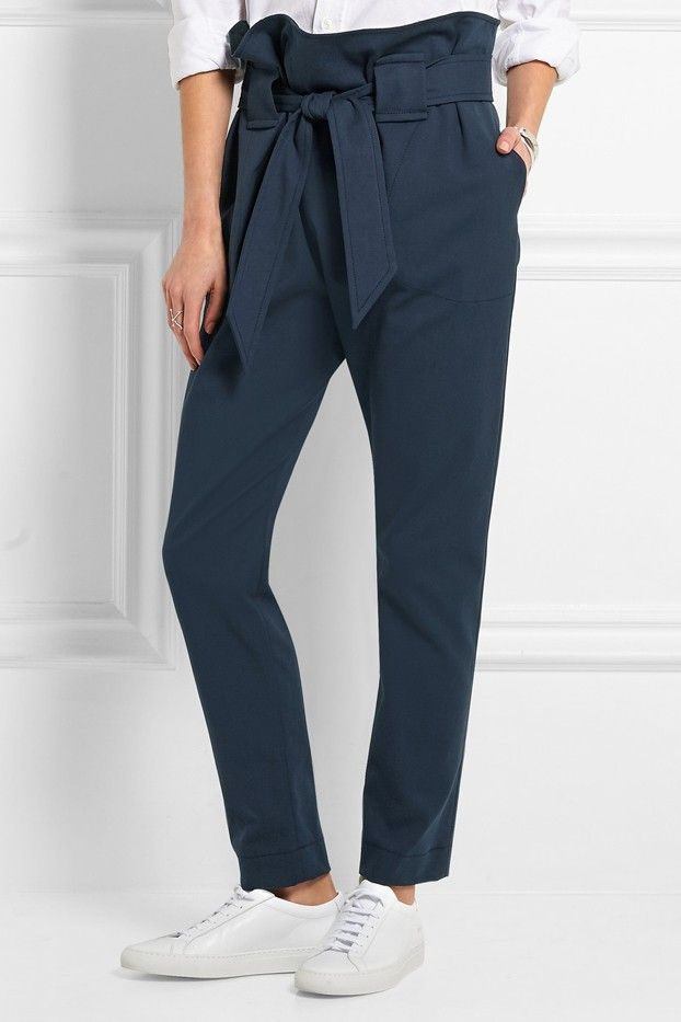 Vivienne Westwood Anglomania Kung Fu Stretch-Cotton Tapered Pants
