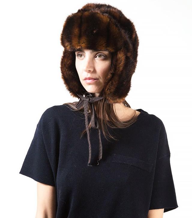 Albertus Swanepoel Bambi Faux Fur Trapper Hat