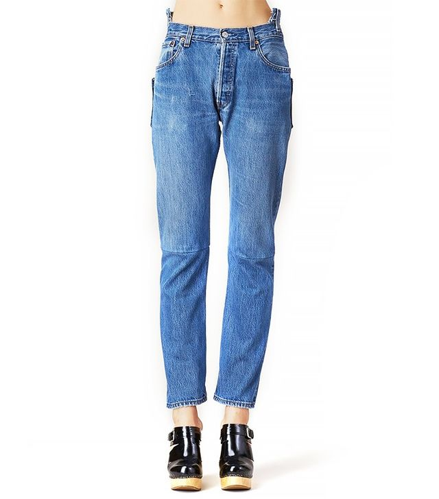 Vetements Blue Slim High-Waisted Jeans
