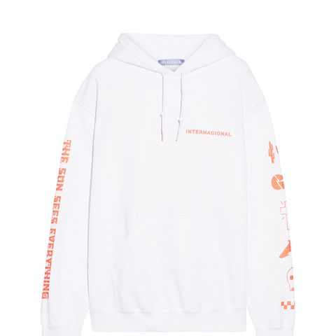 Mex Printed Cotton-Blend Hooded Sweatshirt