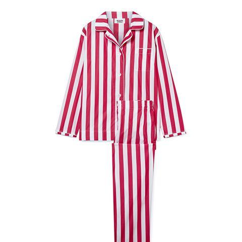 Bishop Striped Cotton Pajama Set