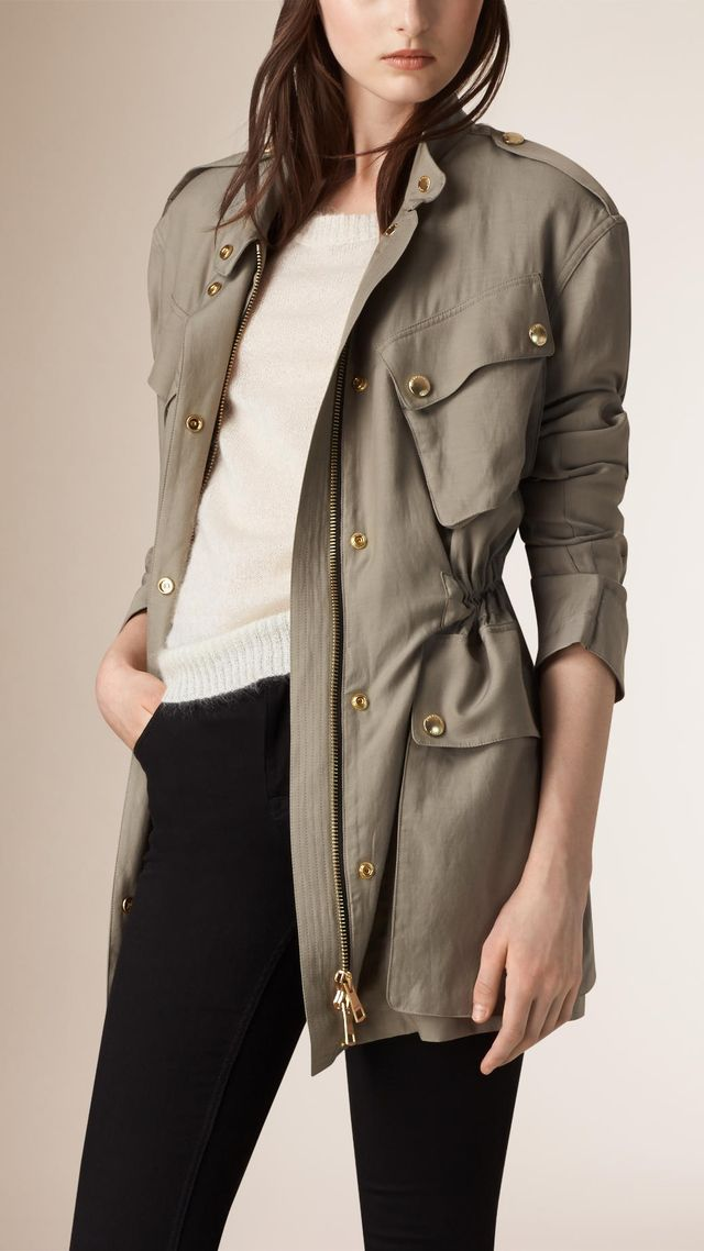 Burberry Cotton Blend Field Jacket