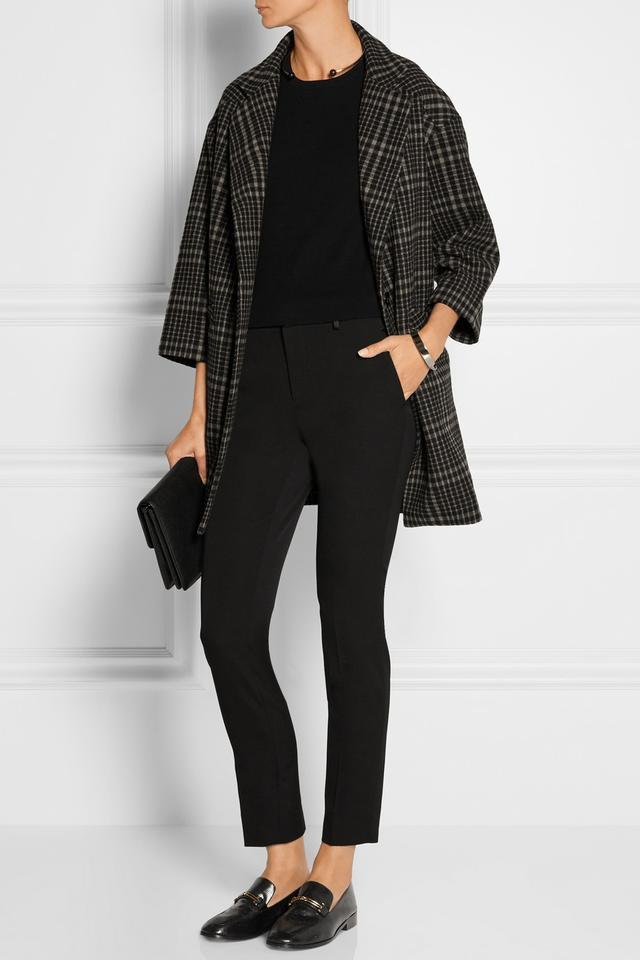 Title A Plaid Wool-Blend Coat