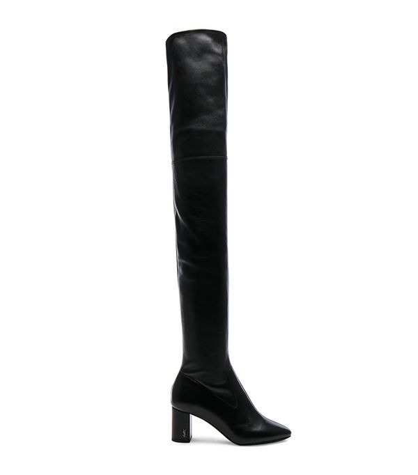 Stretch Nappa Leather LouLou Thigh High Pin Boots