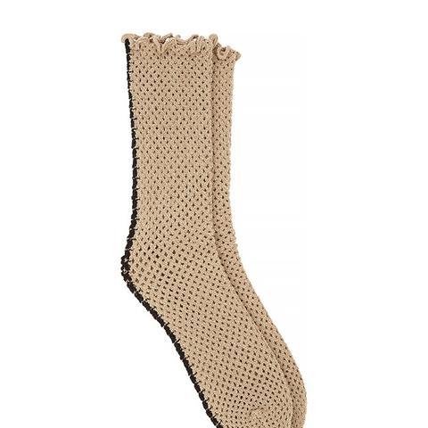 Lattice Fishnet Socks