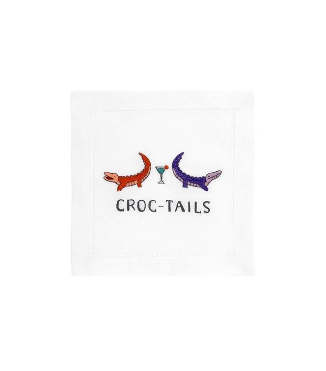 August Morgan Croc-Tails Cocktail Napkins