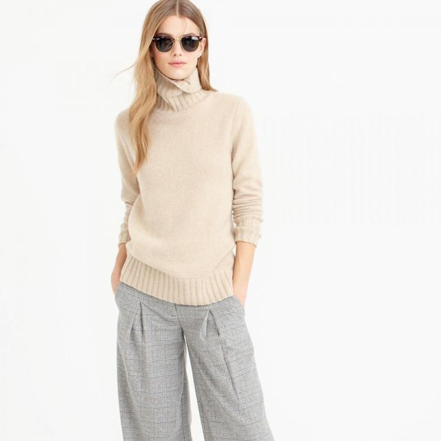 J.Crew Collection Cashmere Chunky Turtleneck Sweater