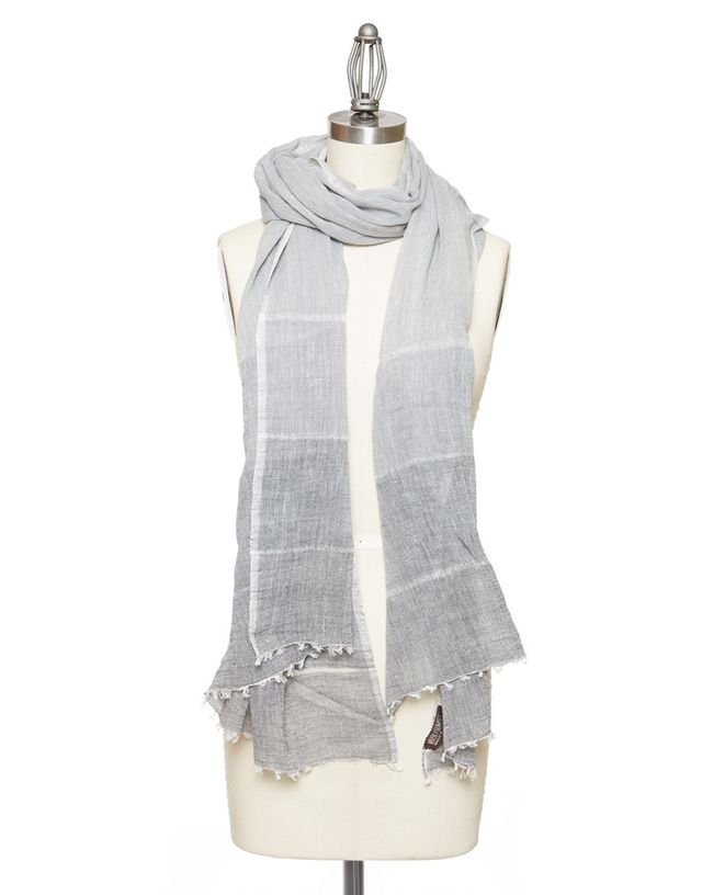 Woven Promises Black Ombre Scarf