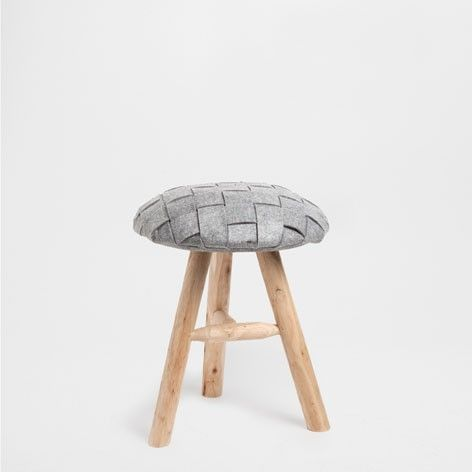 Zara Home Stool with Felt Seat