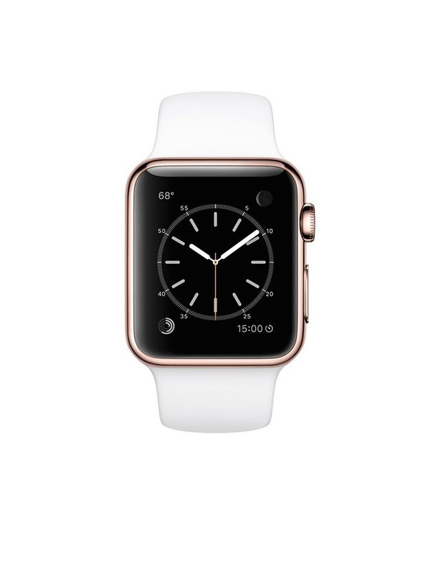 Apple 38mm 18-Karat Rose Gold Watch with White Sport Band