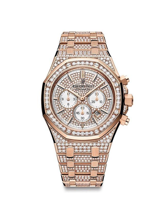 Audemars Piguet Rose Gold & Diamond Royal Oak Chronograph