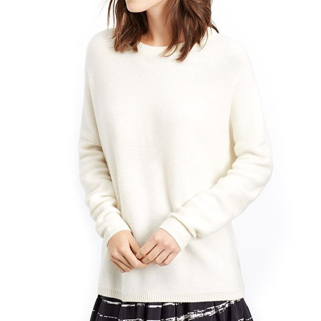VINCE. Easy Fit Ribbed Boatneck Sweater