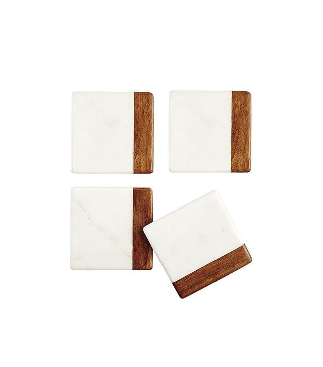 Hudson Marble Wood Coasters