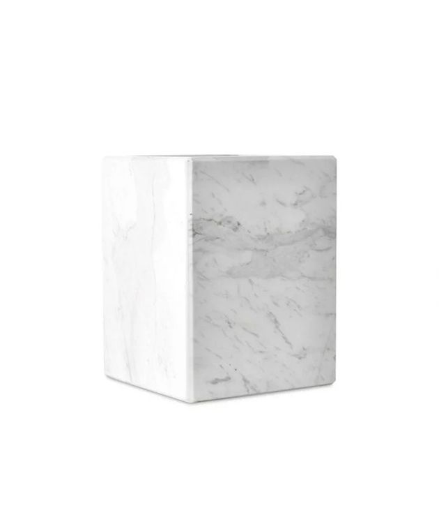 One Kings Lane Marble Covered Wastebasket