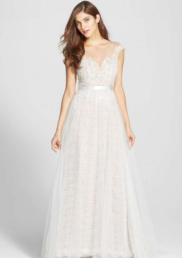 Watters Farah Tulle Gown
