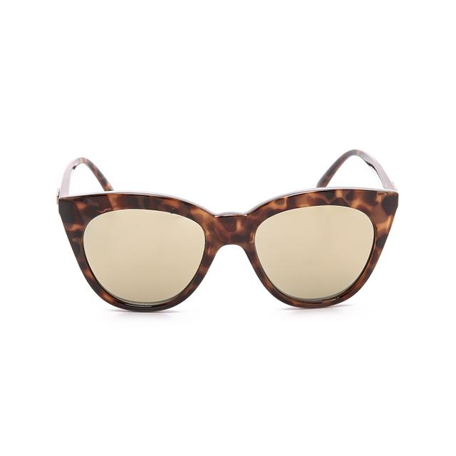 Le Specs Halfmoon Milky Tort Sunglasses