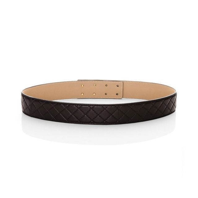 St. John Quilted Leather Belt