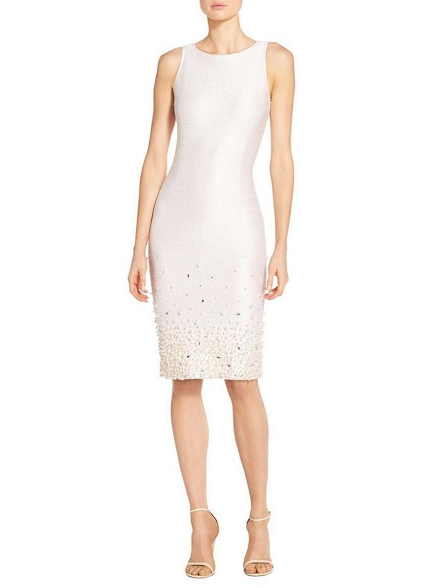 St. John Beaded Pearl Knit Dress