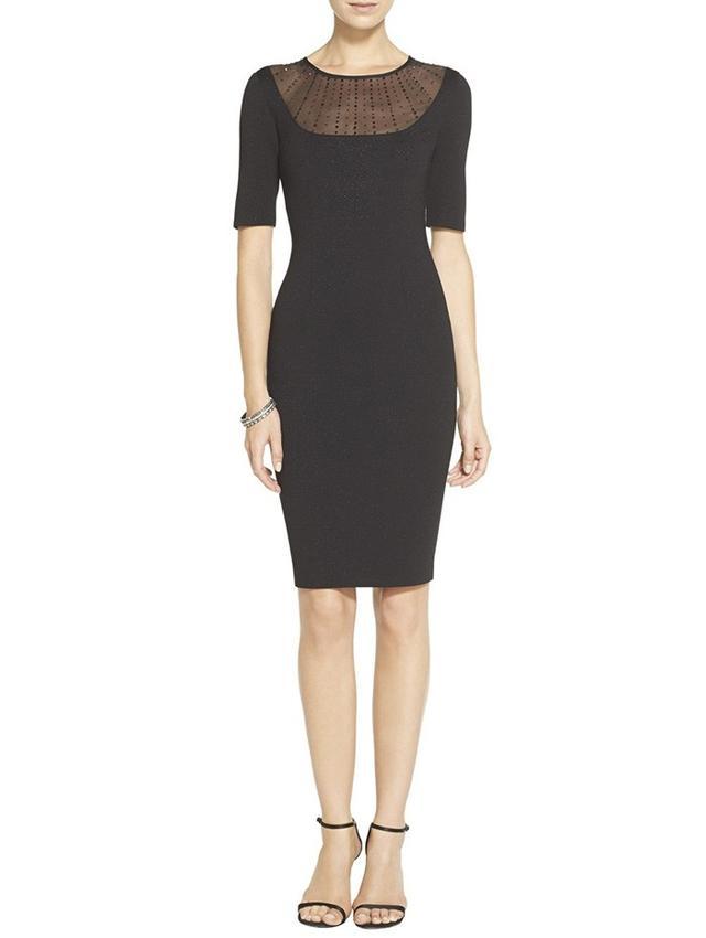 St. John Shimmer Milano Knit Dress