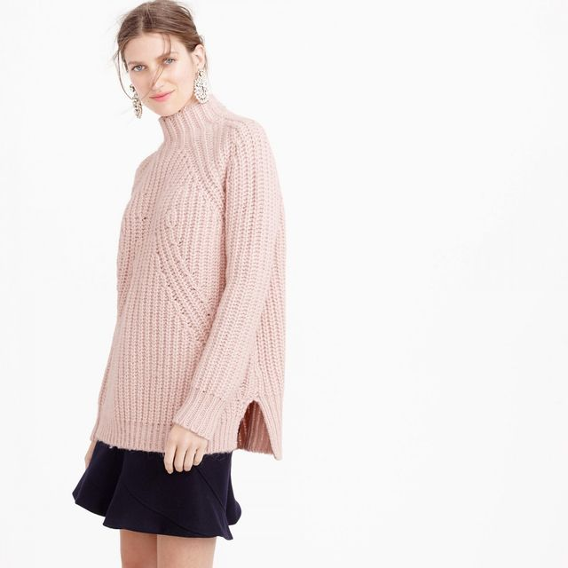 J.Crew Collection Chunky Turtleneck Sweater