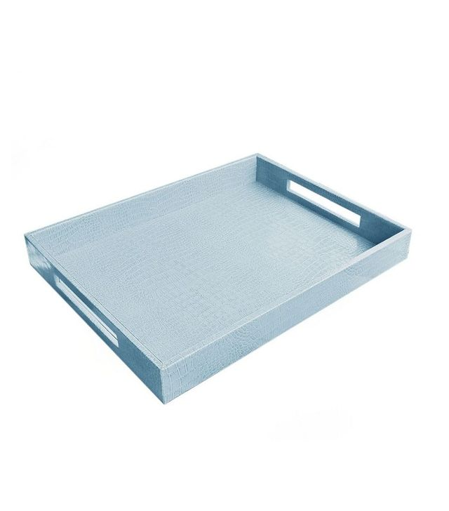 Accents by Jay Faux Leather Breakfast Serving Tray