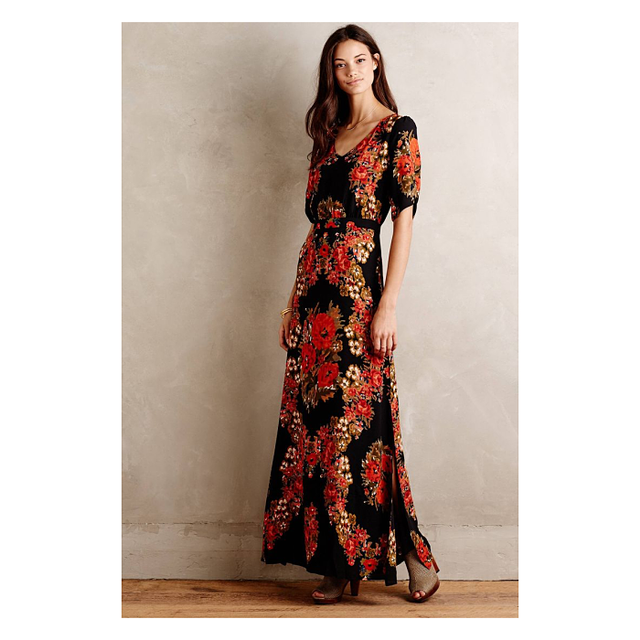 Paper Crown Wreathed Maxi Dress