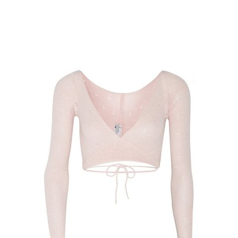 Belle Knitted Jersey Wrap Top