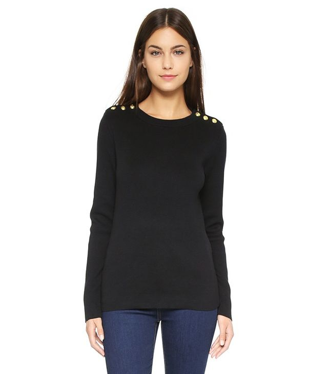 Trend Report: Button-Shoulder Sweaters | WhoWhatWear